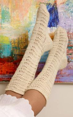 Nordic Yarns and Design since 1928 Fishnet Socks, Lace Socks, Knitting Socks, Knit Socks, Knitting Ideas, Yarn Colors, One Color, Colour, Arm Warmers