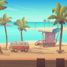 Game Environment on Behance