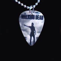 The Walking Dead Guitar Pick Necklace  Necklace by 322Music