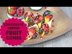 Chocolate Dipped Fruit Cones - My Fussy Eater