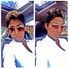 Cutie! @iamevelynnicole ❤️  #thecutlife #shorthair #style #selfie #stunner ✂️