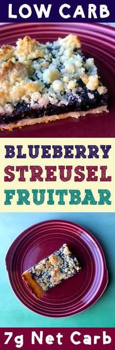 These low carb blueberry bars are so tasty!  And at 7g net carb per bar, they make for the perfect low carb snack.  #LowCarb #keto #ketogenicdiet #atkins #LCHF #healthyfood #Healthy #desserts