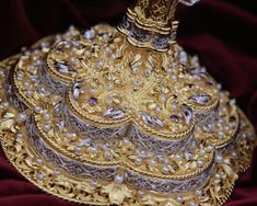 Details from festive ornate Chalice of highest artistic value. Particularly hard work made from pure silver, hundreds of natural pearls, semiprecious stones, gold-plated using method of electroplating. Byzantine Art, Challenge Accepted, Hard Work, Utensils, Festive, Stones, Pearls, Natural, Artist