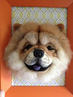 Needle wool felt of a Chow Chow's head on a by KathycCollection, $90.00