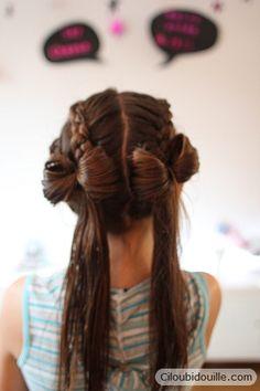 9 idées de coiffure noeud ultra mignonnes pour votre fille ...