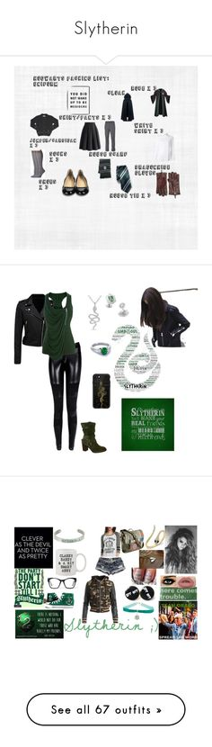 """""""Slytherin"""" by piperford on Polyvore featuring Dsquared2, Want Les Essentiels de la Vie, Chicwish, CO, Royal Robbins, Cole Haan, Smartwool, Forever New, Karen Millen and Pier 1 Imports"""