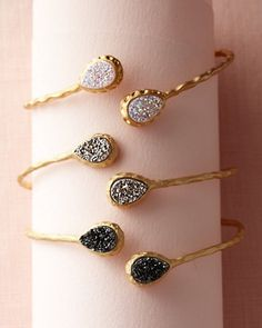 Sonyarenée Drusy Cuff Bracelet