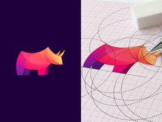 A selection of logos for your inspiration. Using the golden ratio to design a logo Identity Design, Logo Design, Bull Logo, Animal Symbolism, Branding, Golden Ratio, Animal Logo, Icon Design, Modern