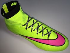 Soccer Boots, Football Boots, Neon Yellow, Yellow Black, Superfly Soccer Cleats, Superfly 4, Cool Nikes, Black Laces, White Lace