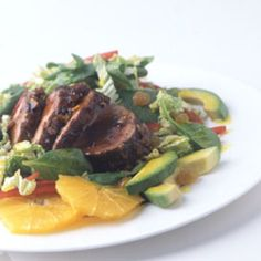 Island Pork Tenderloin Salad - This is a great dish to make for a dinner party as well as a weeknight meal. I don't always make the salad with it but the pork tenderloin is a big hit with everyone in my house even my picky 11 year old! Pork Salad, Chicken Salad, Cooking Recipes, Healthy Recipes, Cooking Pork, Epicurious Recipes, Vegetarian Recipes, Salad Ingredients, Soup And Salad