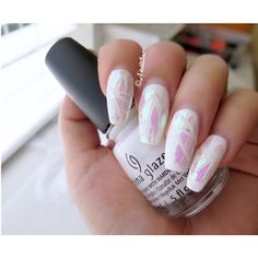 Shattered Glass Nail Sheet Shattered Glass Nails Holographic Nails ($2.50) ❤ liked on Polyvore featuring beauty products, nail care and nail treatments