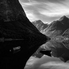 Light boat in shadow, dark boat in light, amazing Ansel Adams - personal opinion - another perfect photograph