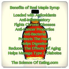 Benefits Of Pure Maple Syrup and other natural sweeteners