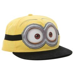 5befff40afc Despicable Me 2 Minion Dave Snapback Ball Cap Hat Adjustable NWT!