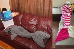 Un patron et tutoriel pour fabriquer des couvertures requin ou sirène, au crochet!