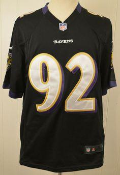Nike Baltimore Ravens Jersey  92 Haloti Ngata NFL Authentic Large Black  Sewn  Nike   f07a926c8