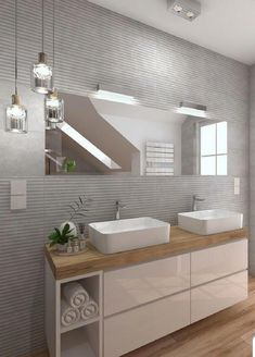 Fantastic Pic Bathroom Cabinets mirror Suggestions Bathroom cabinets are generally widely thought to be to own almost all affect in a very toilet remod Bathroom Interior Design, Modern Interior, Interior Decorating, Bad Inspiration, Bathroom Inspiration, Modern Bathroom, Small Bathroom, Bathroom Cost, Ideas Baños
