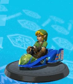 AGHFKLJ this is so adorable Link joins mariokart!!
