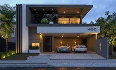 House design, villa design, modern house plans, residential architecture, a Duplex House Design, House Front Design, Modern House Design, Modern Architecture House, Architecture Design, Computer Architecture, Residential Architecture, Living Haus, Casa Clean