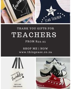 Teachers have done an Extraordinary job this year. Thank them with a personalised gift. www.thingease.co.za Twinkle Star, Twinkle Twinkle, Thank You Gifts, Shop My, Teacher, Twitter, Instagram Posts, Photos, Thank You Presents
