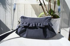 Detachable Wristlet Organic Cotton in navy by Themidnightsundesign, $26.00