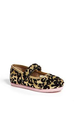 TOMS 'Leopard Glitter - Tiny' Mary Jane (Baby, Walker & Toddler) | Nordstrom
