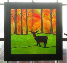 stained glass panel  indian summer