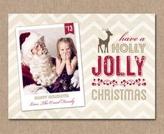PHOTO CHRISTMAS Card  Digital or Printed  cc11 by kimberlyjdesign