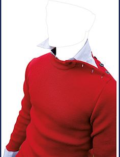 red wool nautical jumper