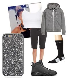 """Untitled #44"" by faultbackgame2strong on Polyvore featuring Helmut Lang, Topshop, H&M, NIKE, women's clothing, women, female, woman, misses and juniors"