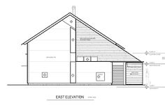 Image result for architectural elevation with sliding door