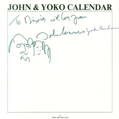 John Lennon Yoko Ono Autographs and Sketch - PFC Auctions
