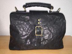 Mooie dokters tas in de kleuren zwart,bruin & cognac www.lederwaren-danielle.nl