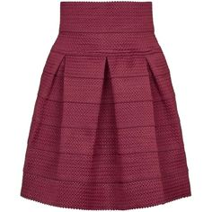 **Mini Bandage Skater Skirt by Rare (170 BRL) ❤ liked on Polyvore featuring skirts, mini skirts, wine, rare london, mini skater skirt, purple bandage skirt, purple skirt and flared mini skirt