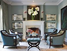 and the absolute perfection of this luxurious living room.