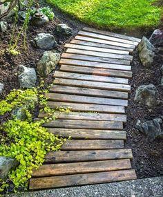 DIY Garden Pallet Path 1 :: Devine Paint Center Blog