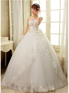 huge ball gown wedding dresses with crystals   dresses   Pinterest ...