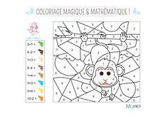 Un petit oustiti c'est toujours un peu filou ! il vous faudra additionner et soustraire pour donner de la couleur à ce coloriage magique et mathématique !