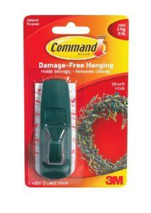 3M Command 17003GR Green Large Hook with Adhesive Strips by 3M. $3.79. Amazon.com                  3M Adhesive Technology 3M Command products offer simple, damage-free hanging solutions for many projects in your home and office. Simplify decorating, organizing, and celebrating with an array of general and decorative hooks, picture and frame hangers, organization products, and more.Thanks to the innovative Command Adhesive strips, you can mount and remount the bundlers with...