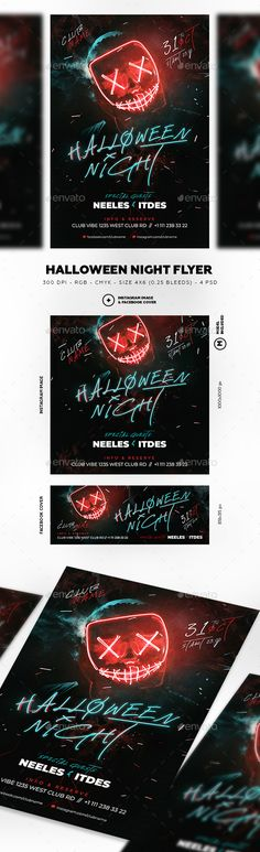 Buy Purge Neon Halloween by neelesart on GraphicRiver. Halloween Party Flyer, Halloween Night, Horror Nights, Neon Nights, Club Parties, Party Poster, Graphic Design Inspiration, Flyer Template, Night Club