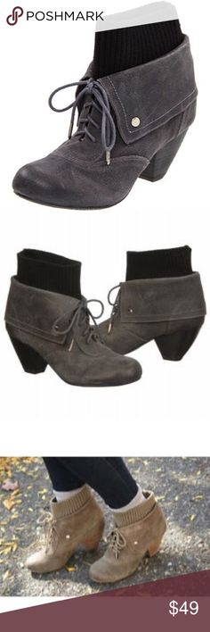 """NWOT! Dr. Scholl's Ali Ankle Bootie Dark Gray 7.5 NWOT! Dr. Scholl's Ali Ankle Bootie Dark Gray. Size 7.5 Leather Synthetic sole Shaft measures approximately 5.5"""" from arch Heel measures approximately 2.5"""" Memory fit foam Flexible sole Dr. Scholl's Shoes Ankle Boots & Booties"""