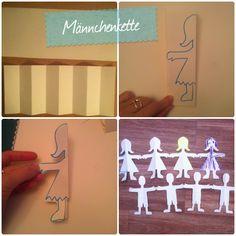 21 papercraft ideas The manikin paper chain