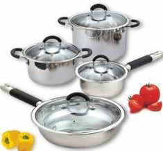 Cook N Home 8 Piece Stainless Cookware Set Encapsulated Bottom (500x464)