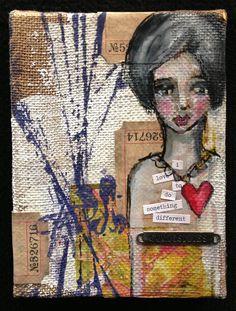 Cute Dina Wakely Burlap Canvas