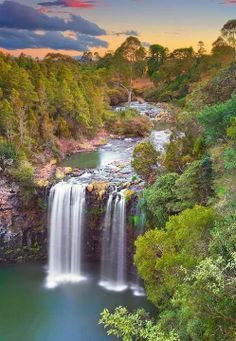 Dangar Waterfall at Sunset, Dorrigo, Australia