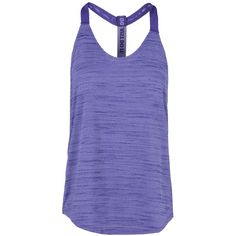 Nike Top ($26) ❤ liked on Polyvore featuring activewear, activewear tops, tops, workout, purple, nike sportswear, nike, sleeveless jersey, nike activewear and logo sportswear