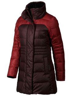 Women's Alderbrook Jacket   Marmot   $295   A mix of fabrics, asymmetrical front zipper and slimming look gives the Women's Alderbrook Jacket fully functional winter appeal. The cozy, cottony heathered fabric is filled with a plush, water-resistant 700-fill-power down; a fleece lining gives the Alderbrook an extra soft-to-the-touch interior. Micro fleece internal cuffs keep the warmth in; two handwarmer pockets and interior zip pocket offers options to store essentials.
