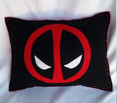 DeadPool Pillow by FranMakesIt on Etsy