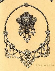 At JCN you can find a wide array of unusual estate jewelry- some from the Victorian era. Antique Jewellery Designs, Edwardian Jewelry, Antique Jewelry, Vintage Jewelry, Gems Jewelry, Beaded Jewelry, Jewelery, Jewelry Design Drawing, Jewellery Sketches