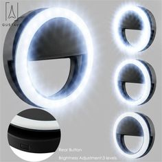 FGAITH Photography Mini Desktop Fill Light Simple Ring led Fill Light self-Timer Mobile Phone Stand Makeup lamp Lighting Mirror Headlight Photography Light